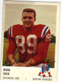 BOB DEE BOSTON PATRIOTS AUTOGRAPHED VINTAGE FOOTBALL CARD #12115G