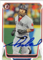 MIKE NAPOLI BOSTON RED SOX AUTOGRAPHED BASEBALL CARD #12715F