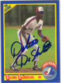 DELINO DeSHIELDS MONTREAL EXPOS AUTOGRAPHED ROOKIE BASEBALL CARD #12715H