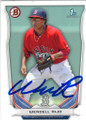 WENDELL RIJO BOSTON RED SOX AUTOGRAPHED ROOKIE BASEBALL CARD #12715K