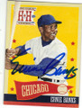 ERNIE BANKS CHICAGO CUBS AUTOGRAPHED BASEBALL CARD #12715N