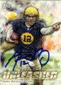 AARON RODGERS GREEN BAY PACKERS AUTOGRAPHED FOOTBALL CARD #12715O