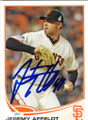 JEREMY AFFELDT SAN FRANCISCO GIANTS AUTOGRAPHED BASEBALL CARD #12915i