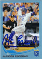 ALCIDES ESCOBAR KANSAS CITY ROYALS AUTOGRAPHED BASEBALL CARD #12915M