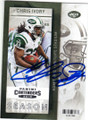 CHRIS IVORY NEW YORK JETS AUTOGRAPHED FOOTBALL CARD #20215B