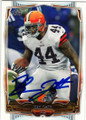 BEN TATE CLEVELAND BROWNS AUTOGRAPHED FOOTBALL CARD #20215J