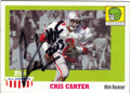 CRIS CARTER OHIO STATE BUCKEYES AUTOGRAPHED FOOTBALL CARD #20315G