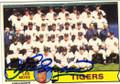 LES MOSS DETROIT TIGERS AUTOGRAPHED VINTAGE BASEBALL CARD #20515O