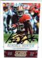 KENDALL HUNTER SAN FRANCISCO 49ers AUTOGRAPHED FOOTBALL CARD #20615A