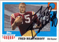 FRED BILETNIKOFF FLORIDA STATE SEMINOLES AUTOGRAPHED FOOTBALL CARD #20615L
