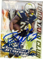 RYAN MATHEWS SAN DIEGO CHARGERS AUTOGRAPHED FOOTBALL CARD #20615N