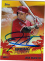 JOSH HAMILTON LOS ANGELES ANGELS OF ANAHEIM AUTOGRAPHED BASEBALL CARD #20615O
