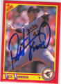 PETE HARNISCH BALTIMORE ORIOLES AUTOGRAPHED BASEBALL CARD #20715B
