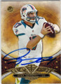 RYAN TANNEHILL MIAMI DOLPHINS AUTOGRAPHED FOOTBALL CARD #20715N