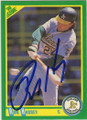 RON HASSEY OAKLAND ATHLETICS AUTOGRAPHED BASEBALL CARD #20815J