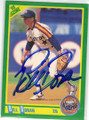 BILL DORAN HOUSTON ASTROS AUTOGRAPHED BASEBALL CARD #20815N