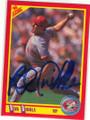 ROB DIBBLE CINCINNATI REDS AUTOGRAPHED BASEBALL CARD #20915B
