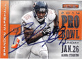 BRANDON MARSHALL CHICAGO BEARS AUTOGRAPHED FOOTBALL CARD #20915N