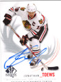 JONATHAN TOEWS CHICAGO BLACKHAWKS AUTOGRAPHED HOCKEY CARD #20915O