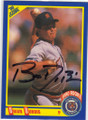 BRIAN DUBOIS DETROIT TIGERS AUTOGRAPHED ROOKIE BASEBALL CARD #20915S