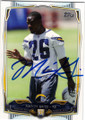 MARION GRICE SAN DIEGO CHARGERS AUTOGRAPHED ROOKIE FOOTBALL CARD #20915T