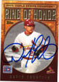 DAVID ECKSTEIN ST LOUIS CARDINALS AUTOGRAPHED BASEBALL CARD #21015B