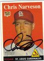 CHRIS NARVESON ST LOUIS CARDINALS AUTOGRAPHED ROOKIE BASEBALL CARD #21015F