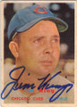 JIM KING CHICAGO CUBS AUTOGRAPHED VINTAGE BASEBALL CARD #21215A