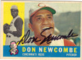DON NEWCOMBE CINCINNATI REDS AUTOGRAPHED VINTAGE BASEBALL CARD #21315i