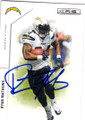 RYAN MATHEWS SAN DIEGO CHARGERS AUTOGRAPHED FOOTBALL CARD #21315J