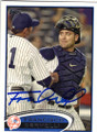 FRANCISCO CERVELLI NEW YORK YANKEES AUTOGRAPHED BASEBALL CARD #21315L