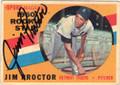 JIM PROCTOR DETROIT TIGERS AUTOGRAPHED VINTAGE ROOKIE BASEBALL CAD #21315M