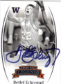 DETLEF SCHREMPF UNIVERSITY OF WASHINGTON HUSKIES AUTOGRAPHED BASKETBALL CARD #22015D