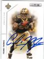 PIERRE THOMAS NEW ORLEANS SAINTS AUTOGRAPHED FOOTBALL CARD #22015F