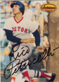 RICO PETROCELLI BOSTON RED SOX AUTOGRAPHED BASEBALL CARD #22015H
