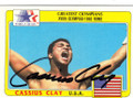CASSIUS CLAY AUTOGRAPHED BOXING CARD #22115A