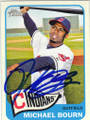 MICHAEL BOURN CLEVELAND INDIANS AUTOGRAPHED BASEBALL CARD #22115H