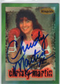 CHRISTY MARTIN AUTOGRAPHED BOXING CARD #22115J