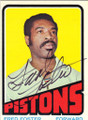FRED FOSTER DETROIT PISTONS AUTOGRAPHED BASKETBALL CARD #22115K