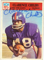 CLARENCE CHILDS NEW YORK GIANTS AUTOGRAPHED VINTAGE FOOTBALL CARD #22215A