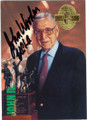 JOHN WOODEN UCLA COACH AUTOGRAPHED BASKETBALL CARD #22215i
