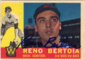 RENO BERTOIA WASHINGTON SENATORS AUTOGRAPHED VINTAGE BASEBALL CARD #22215K