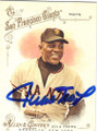 WILLIE MAYS SAN FRANCISCO GIANTS AUTOGRAPHED BASEBALL CARD #22215N