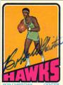 BOB CHRISTIAN ATLANTA HAWKS AUTOGRAPHED VINTAGE BASKETBALL CARD #22215Q
