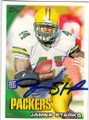JAMES STARKS GREEN BAY PCKERS AUTOGRAPHED ROOKIE FOOTBALL CARD #22515S