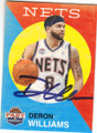 DERON WILLIAMS NEW YORK NETS AUTOGRAPHED BASKETBALL CARD #22515E