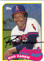 ROD CAREW CALIFORNIA ANGELS AUTOGRAPHED BASEBALL CARD #22515H