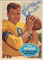 BILL WADE LOS ANGELES RAMS AUTOGRAPHED VINTAGE FOOTBALL CARD #22615E