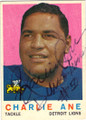CHARLIE ANE DETROIT LIONS AUTOGRAPHED VINTAGE FOOTBALl card #22615H