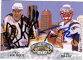 RAY BOURQUE & TOM BRADY DOUBLE AUTOGRAPHED CARD #22615L